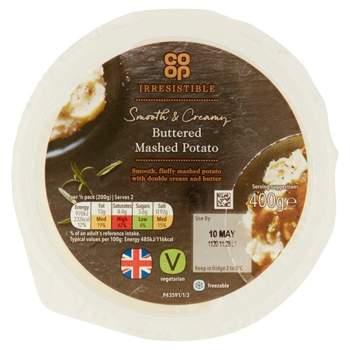 Picture of Co-op Irresistible Cream & Butter Mashed Potato 450g