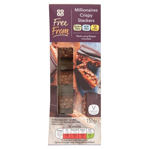 Picture of Co-op Free From Millionaires Crispy Stackers 150g
