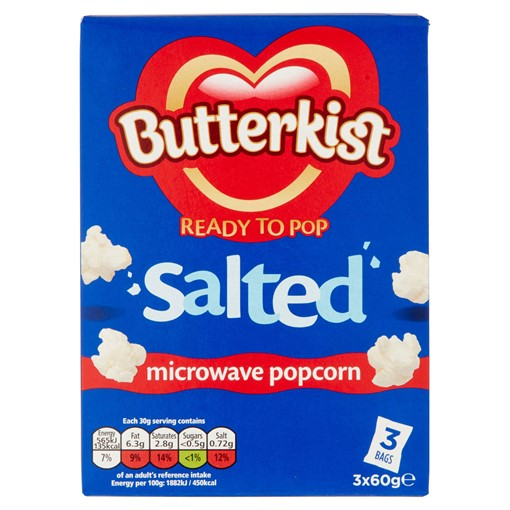 Picture of Butterkist Salted Microwave Popcorn 3 x 60g