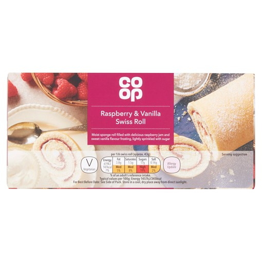 Picture of Co-op Raspberry & Vanilla Swiss Roll