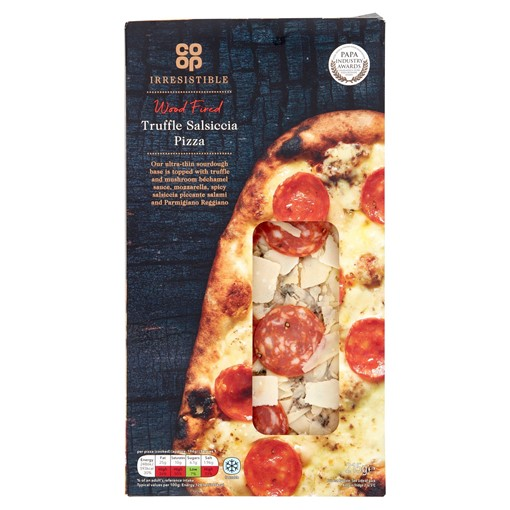Picture of Co-op Limited Edition Irresistible Wood Fired Truffle Salsiccia Pizza 215g