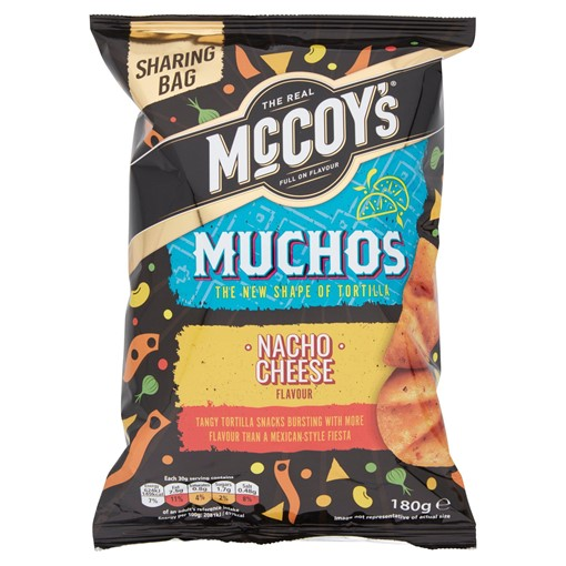 Picture of McCoy's Muchos Nacho Cheese Tortilla Crisps 180g
