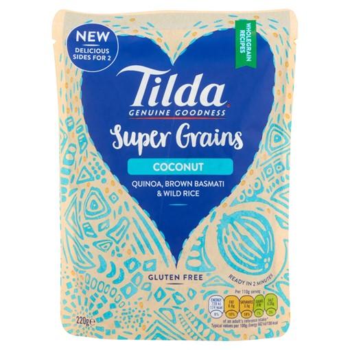 Picture of Tilda Super Grains Coconut Quinoa, Brown Basmati & Wild Rice 220g