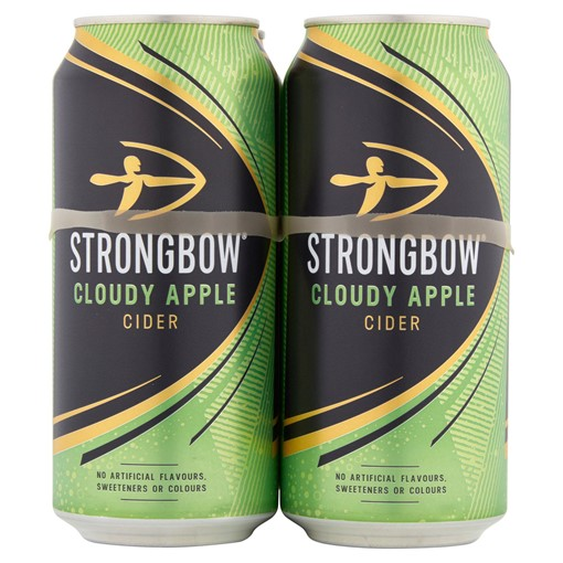 Picture of Strongbow Cloudy Apple Cider 4 x 440ML Cans