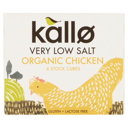 Picture of Kallo 6 Very Low Salt Organic Chicken Stock Cubes 48g