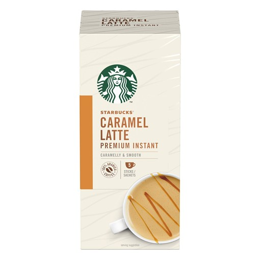 Picture of Starbucks Caramel Latte Premium Instant Coffee 5 x 21.5g Sachets