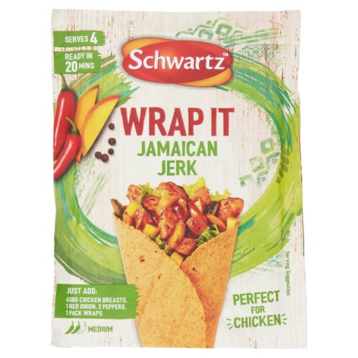 Picture of Schwartz Wrap It Jamaican Jerk 30g