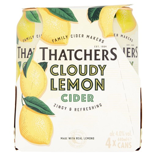 Picture of Thatchers Cloudy Lemon Cider 4 x 440ml