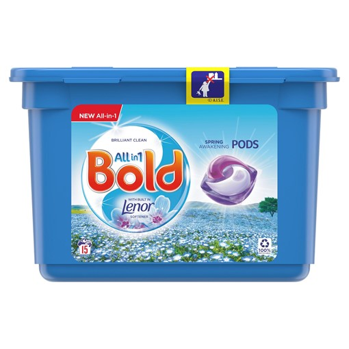Picture of Bold 3in1 Pods Spring Awakening Washing Liquid Capsules 15 Washes
