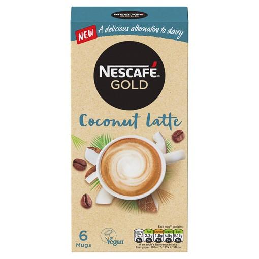 Picture of Nescafé Gold Non-Dairy Coconut Latte Instant Coffee 15g x 6 Sachets