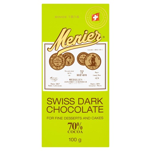 Picture of Menier Swiss Dark Chocolate 100g