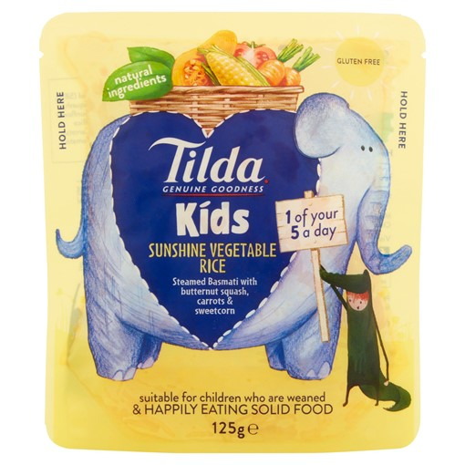 Picture of Tilda Kids Sunshine Vegetable Rice 125g