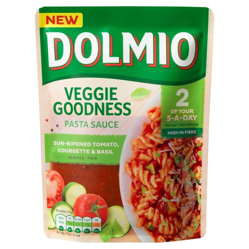 Picture of Dolmio Veggie Goodness Tomato Courgette and Basil Pasta Sauce 340g