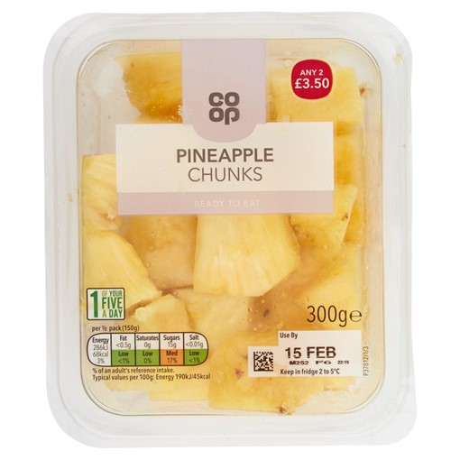 Picture of Co-op Pineapple Chunks 300g