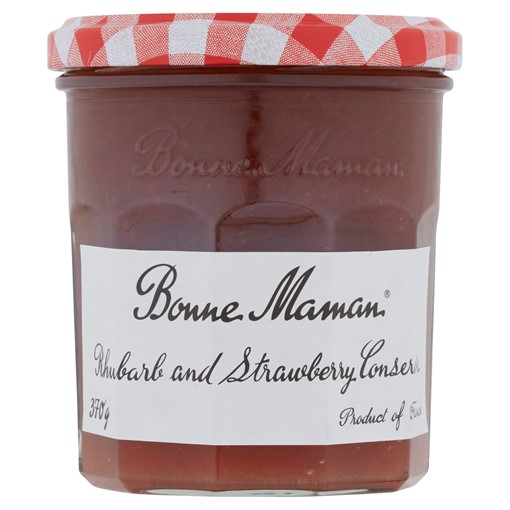 Picture of Bonne Maman Rhubarb and Strawberry Jam 370g