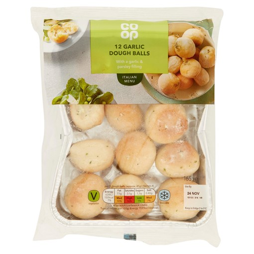Picture of Co-op 12 Garlic Dough Balls 165g