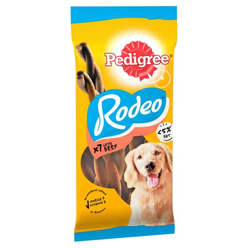 Picture of Pedigree Rodeo Adult Dog Treats Beef 7 Sticks 123g