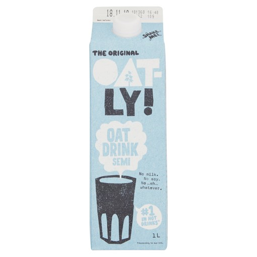 Picture of Oatly Oat Drink Semi Chilled 1 Litre