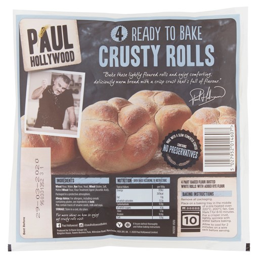 Picture of Paul Hollywood 4 Ready to Bake Crusty Rolls