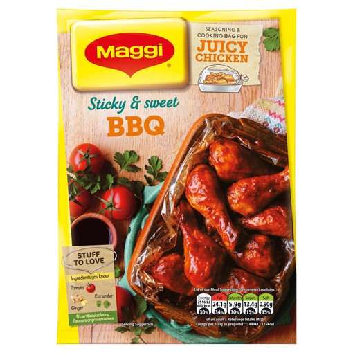 Picture of MAGGI Juicy Sticky BBQ Chicken Recipe Mix 47g