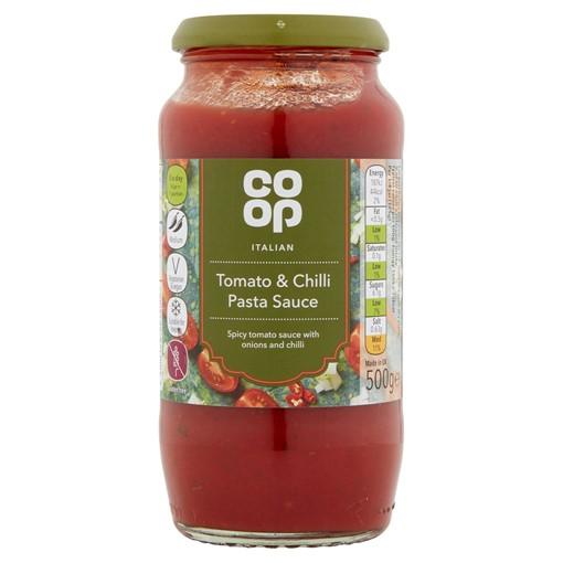 Picture of Co Op Italian Tomato & Chilli Pasta Sauce 500g