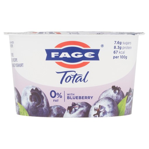 Picture of FAGE Total 0% Fat Free Greek Recipe Strained Yoghurt with Blueberry 170g