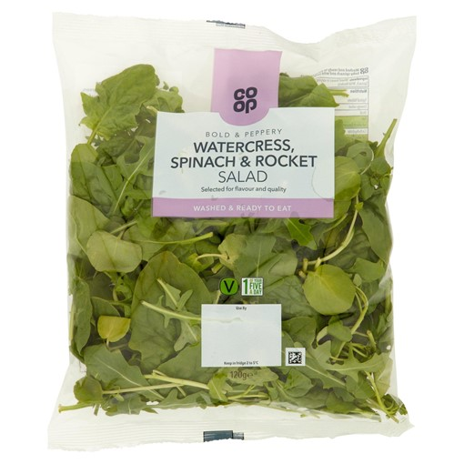 Picture of Co-op Watercress, Spinach & Rocket Salad 120g