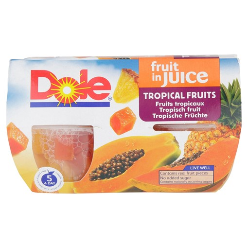Picture of Dole Fruit in Juice Tropical Fruits 4 x 113g (452g)