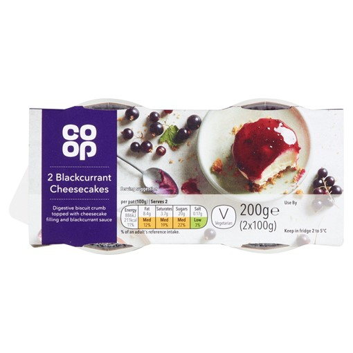 Picture of Co-op Blackcurrant Cheesecake 2x100
