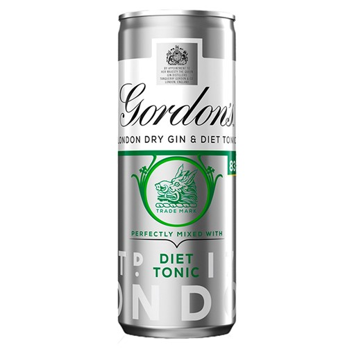 Picture of Gordon's London Dry Gin with Diet Tonic 250ml Ready to Drink Premix Can