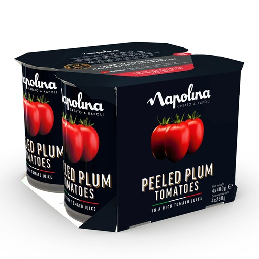 Picture of Napolina Peeled Plum Tomatoes in a Rich Tomato Juice 4 x 400g