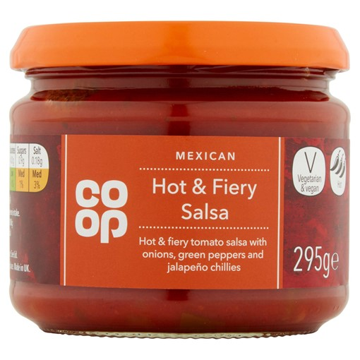 Picture of Co Op Mexican Hot & Fiery Salsa 295g