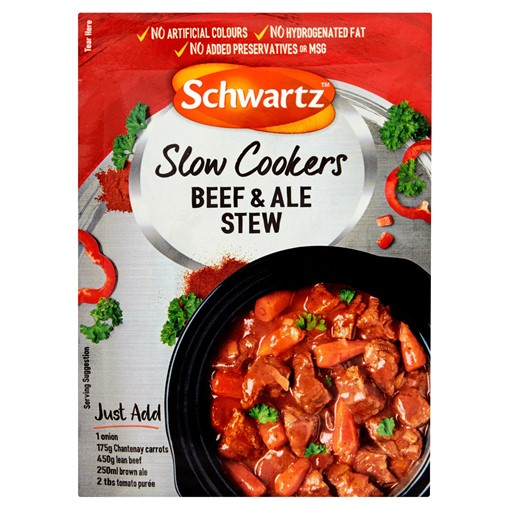 Picture of Schwartz Beef & Ale Stew Slow Cookers Recipe Mix 43g