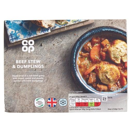 Picture of Co-op Beef Stew & Dumplings 400g