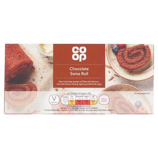 Picture of Co-op Chocolate Swiss Roll