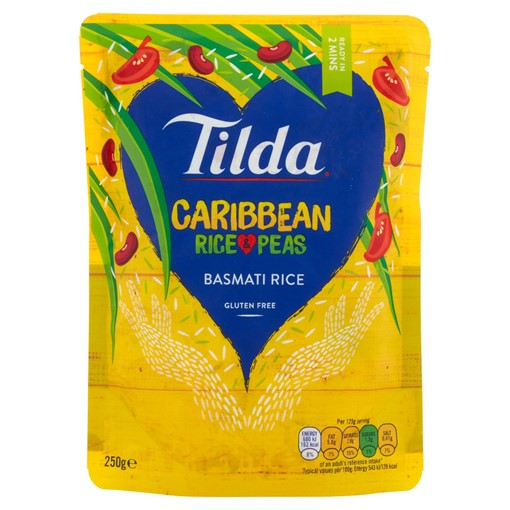 Picture of Tilda Microwave Caribbean Basmati Rice and Peas 250g