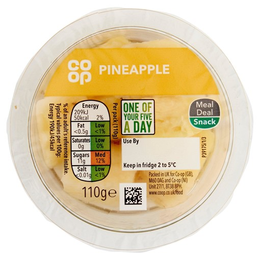 Picture of Co-op Pineapple 110g