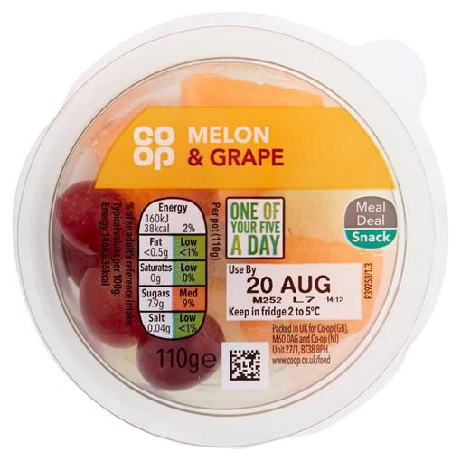 Picture of Co-op Melon & Grape 110g