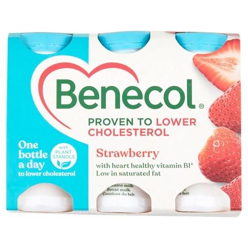 Picture of Benecol Strawberry Yogurt Drink 6 x 67.5g (405g)