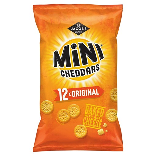 Picture of Jacob's Mini Cheddars Original Cheese Snacks 12 Pack 300g