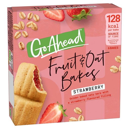 Picture of Go Ahead 6 Fruit & Oat Bakes Strawberry 210g