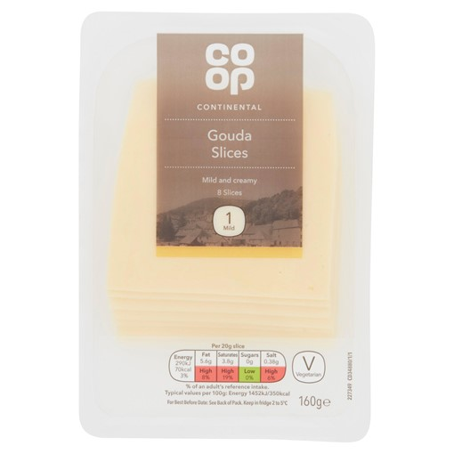 Picture of Co Op Continental 8 Gouda Slices 160g