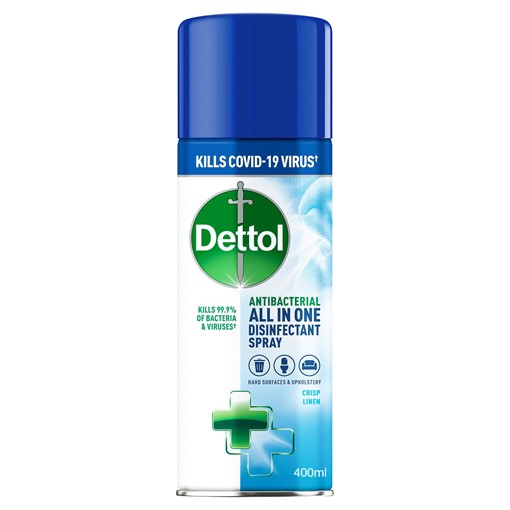 Picture of Dettol All-in-One Disinfectant Spray, Crisp Linen, 400 ml