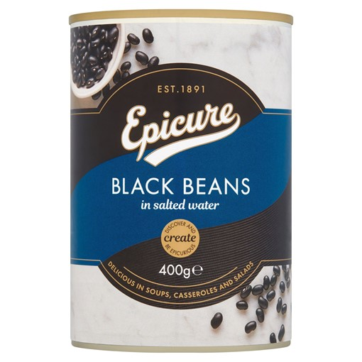 Picture of Epicure Black Beans in Salted Water 400g
