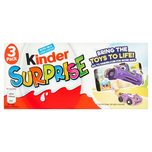 Picture of Kinder Surprise Eggs 3 x 20 (60g)