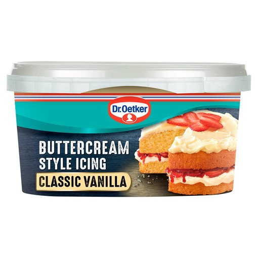 Picture of Dr. Oetker Classic Vanilla Buttercream Style Icing 400g