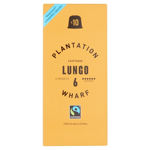 Picture of Plantation Wharf Fairtrade Lungo 10 x 5g (50g)
