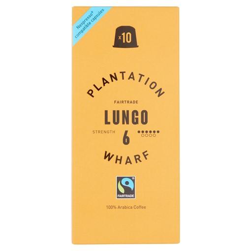 Picture of Plantation Wharf Fairtrade Lungo 10 x 5g (50g)