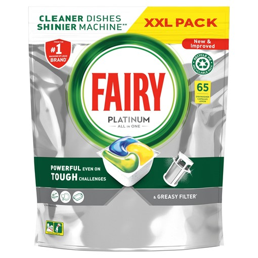 Picture of Fairy Platinum Dishwasher Tablets Lemon 50 per pack