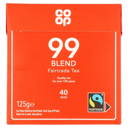 Picture of Co-op 99 Blend Fairtrade Tea 40 Bags 125g
